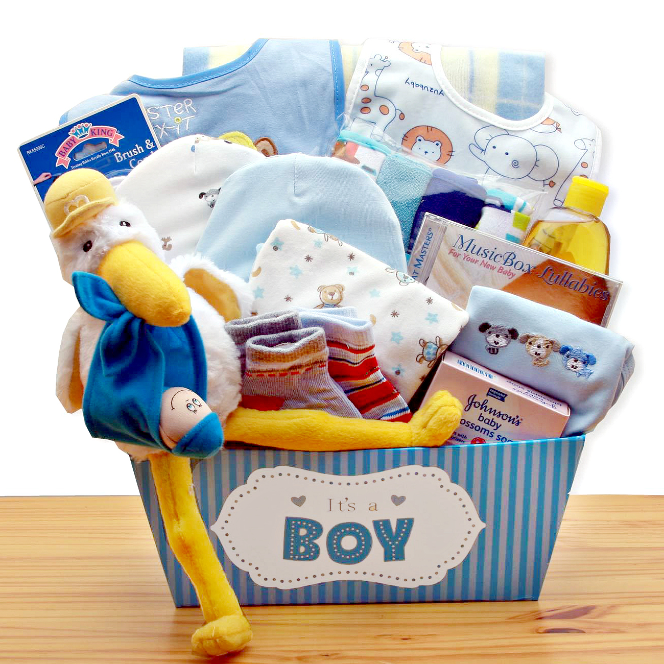 Special Delivery Baby Boy Gift Basket