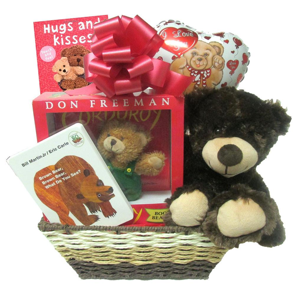 Bear Gift Basket for New Baby. Loading zoom
