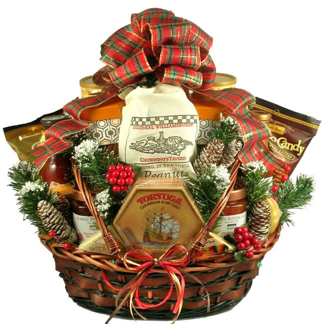 Country christmas deluxe gift basket Country christmas gifts to make