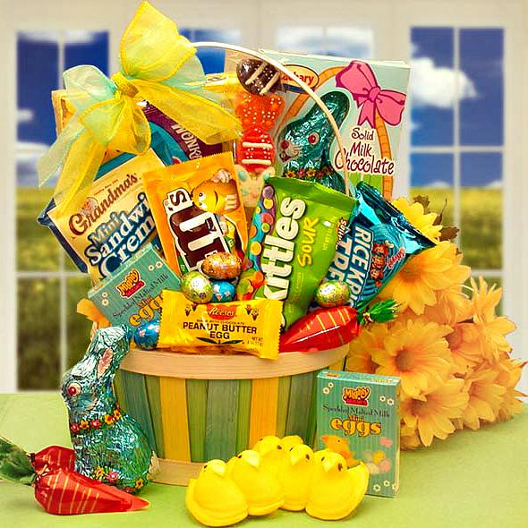 easter basket of goodies. Loading zoom