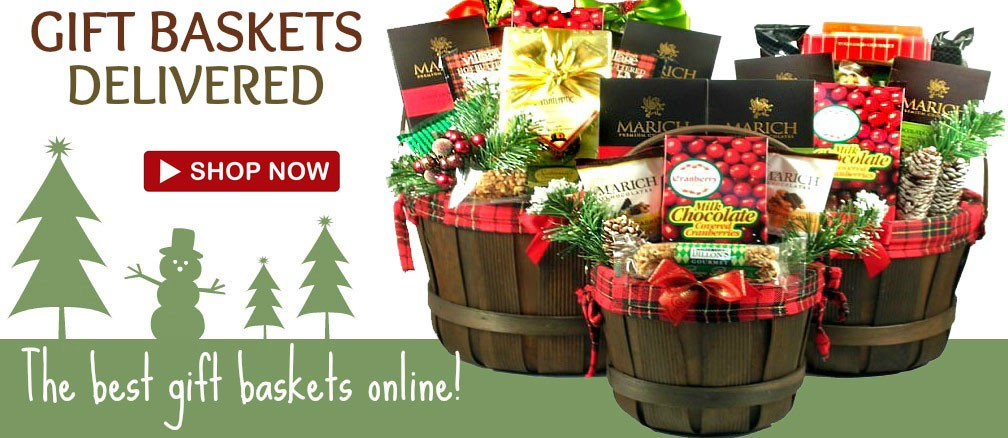 delivered Christmas holiday gift basket  sc 1 st  Adorable Gift Baskets & Holiday Food Baskets Ship Free Holiday Gift Baskets