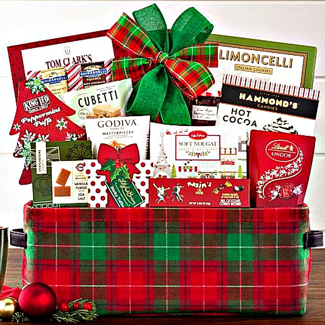 holi-day gift basket for Christmas