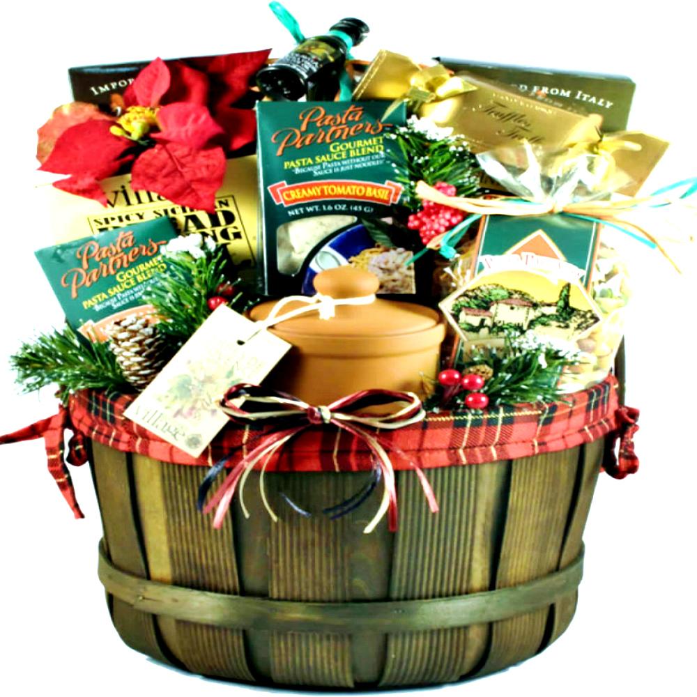 Christmas Baskets.Buon Natale Italian Christmas Basket