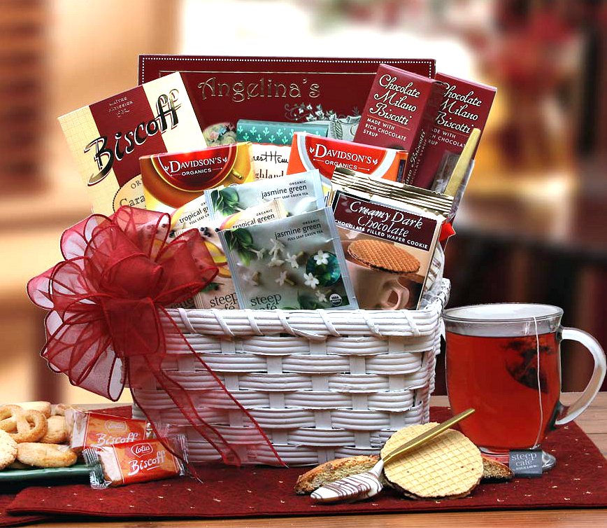 Herbal Tea Basket Unique Gift For