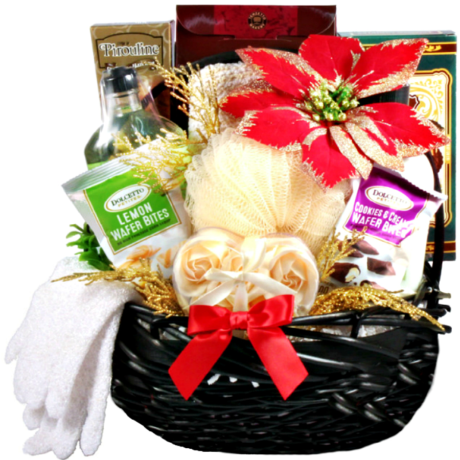 Christmas Gift Baskets For Women.Holiday Spa Gift Relaxing Christmas Gift Basket For Her