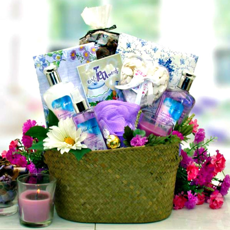 Healing Spa Gift Basket For Her