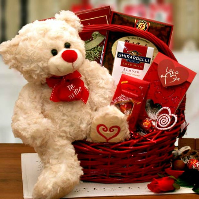 Valentines day gift basket will you be mine be mine valentine gift basket loading zoom negle Image collections
