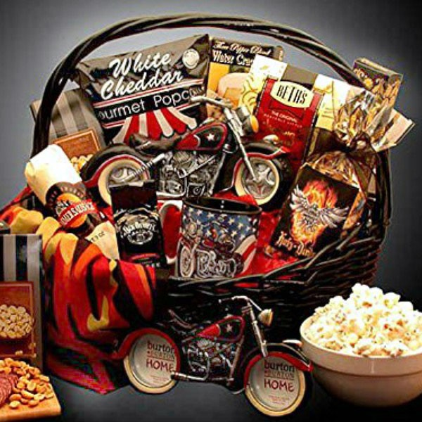 Motorcycle Man Gift Basket For Bikers