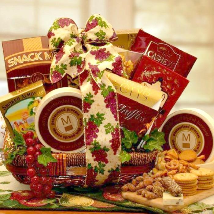 sophisticated gourmet gift basket