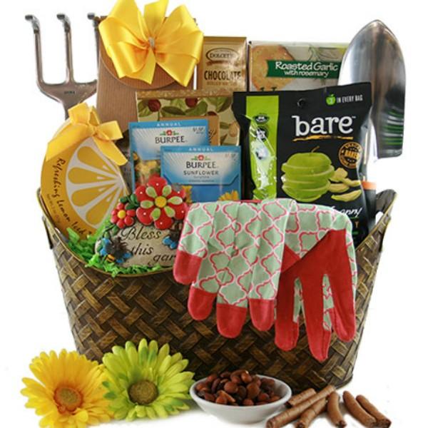 Beau Spring Garden Gift Basket. Loading Zoom