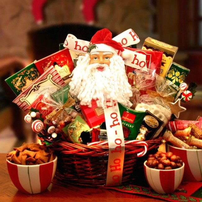There S Always Room For Ice Cream Chocolate Basket: Santa Claus Sweet Shop Gift Basket