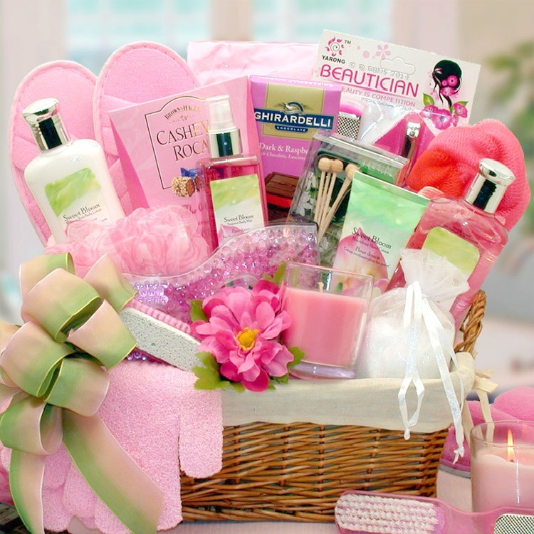 Summer Blooms And Scents Spa Basket