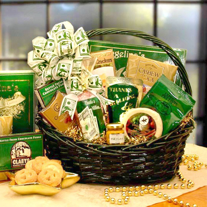 A big thank you gift basket