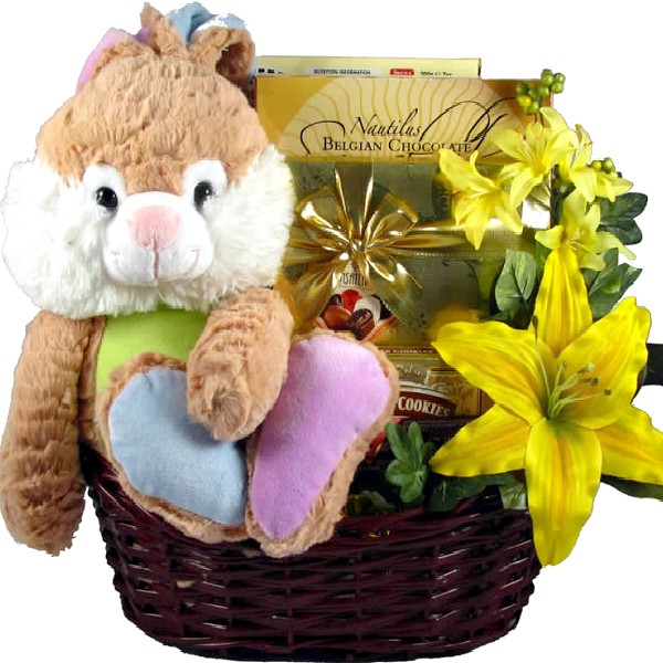 Hopping big easter basket too cute for words too cute easter bunny basket loading zoom negle Image collections
