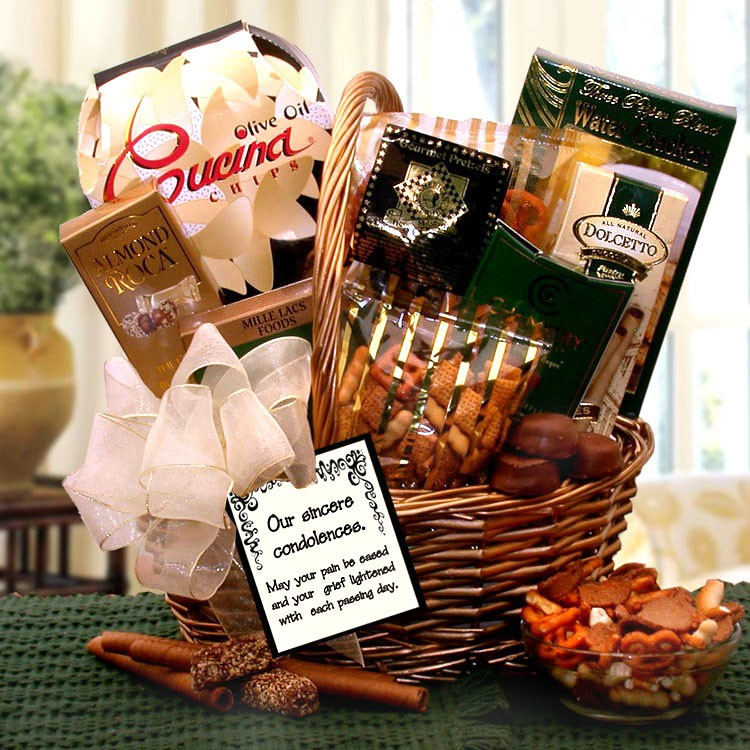 Sincere Condolences Gift Basket Send The Gift Of Comfort & Our Sincerest Condolences Gift Basket