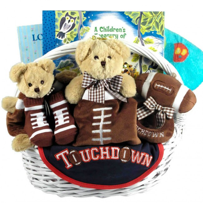 All American Touchdown New Baby Boy Sports Themed Gift Basket 433d849c9