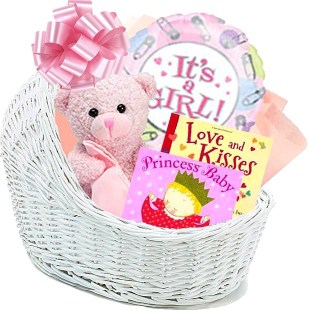 Baby Gift Baskets For Girl : It s a girl baby gift basket