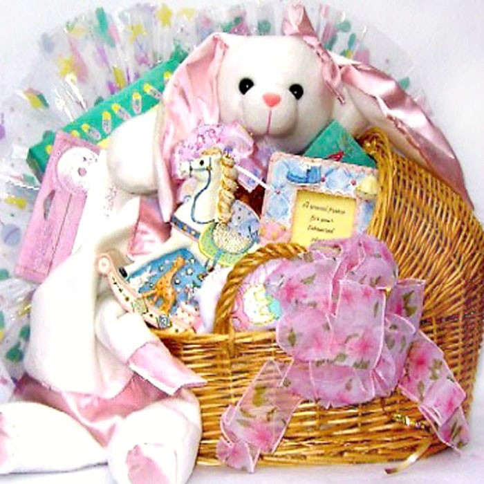 Special delivery baby gift basket negle Images