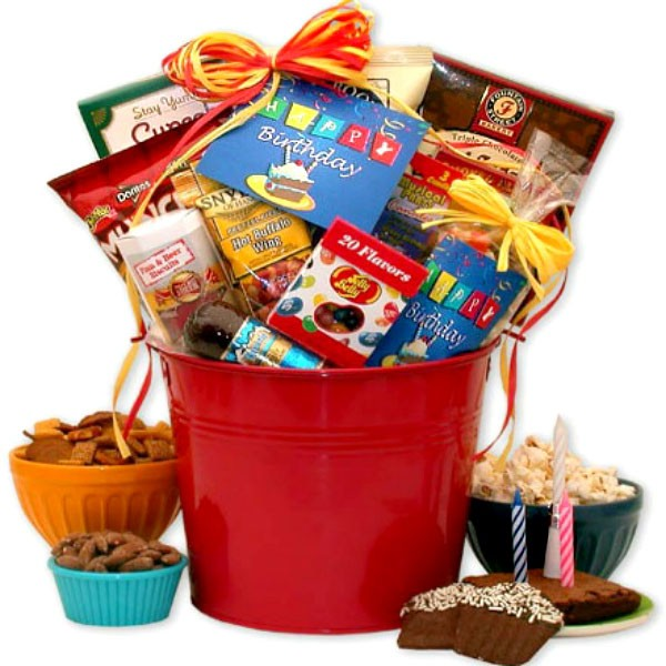Birthday Gift Basket For Him Loading Zoom