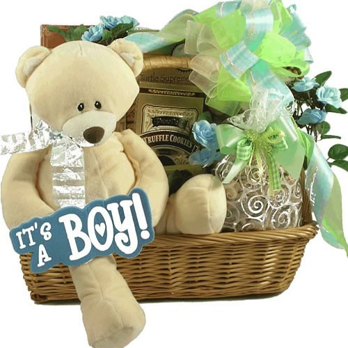 Baby boy gift packages : Precious prince baby boy gift basket