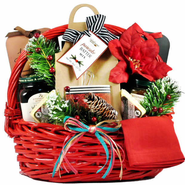 Deluxe Country Christmas Breakfast Gift Basket Has All The Fixins