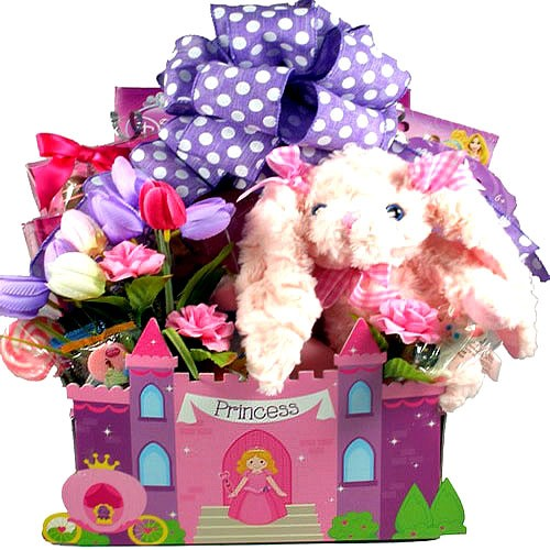 Easter baskets delivered easter candy easter bunny basket little princess easter gift basket negle Choice Image