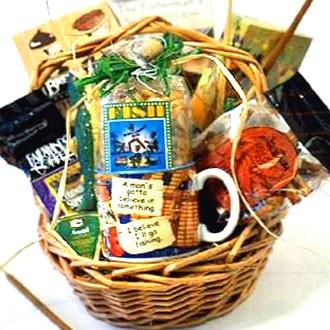 Gone fishing fishing gift basket for Fishing gift basket