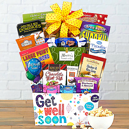Bed Rest Gift Basket, Get Well Gift For