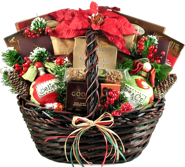 Homespun Holiday Gift Basket Perfect