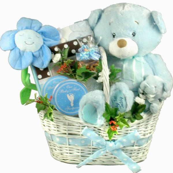 Deluxe Baby Boy Gift Basket. Loading zoom  sc 1 st  Adorable Gift Baskets : newborn baby boy gift baskets - princetonregatta.org