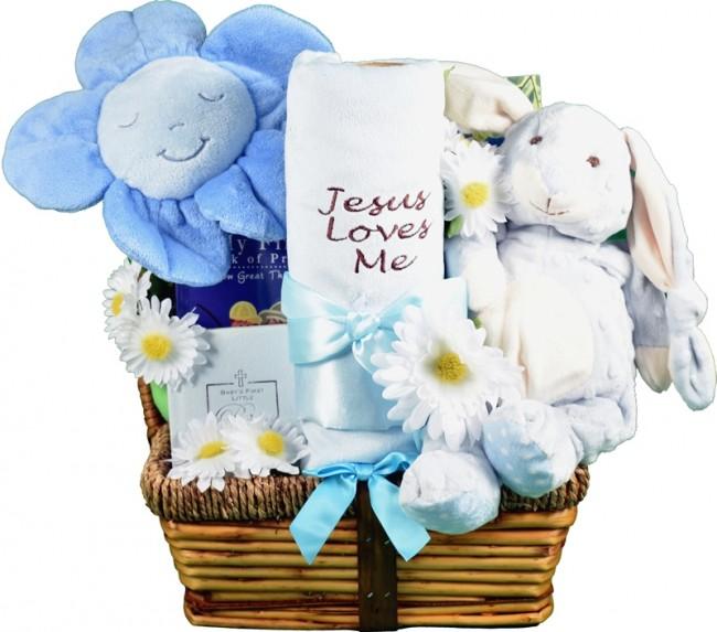 Jesus Loves Me, New Baby Gift Basket