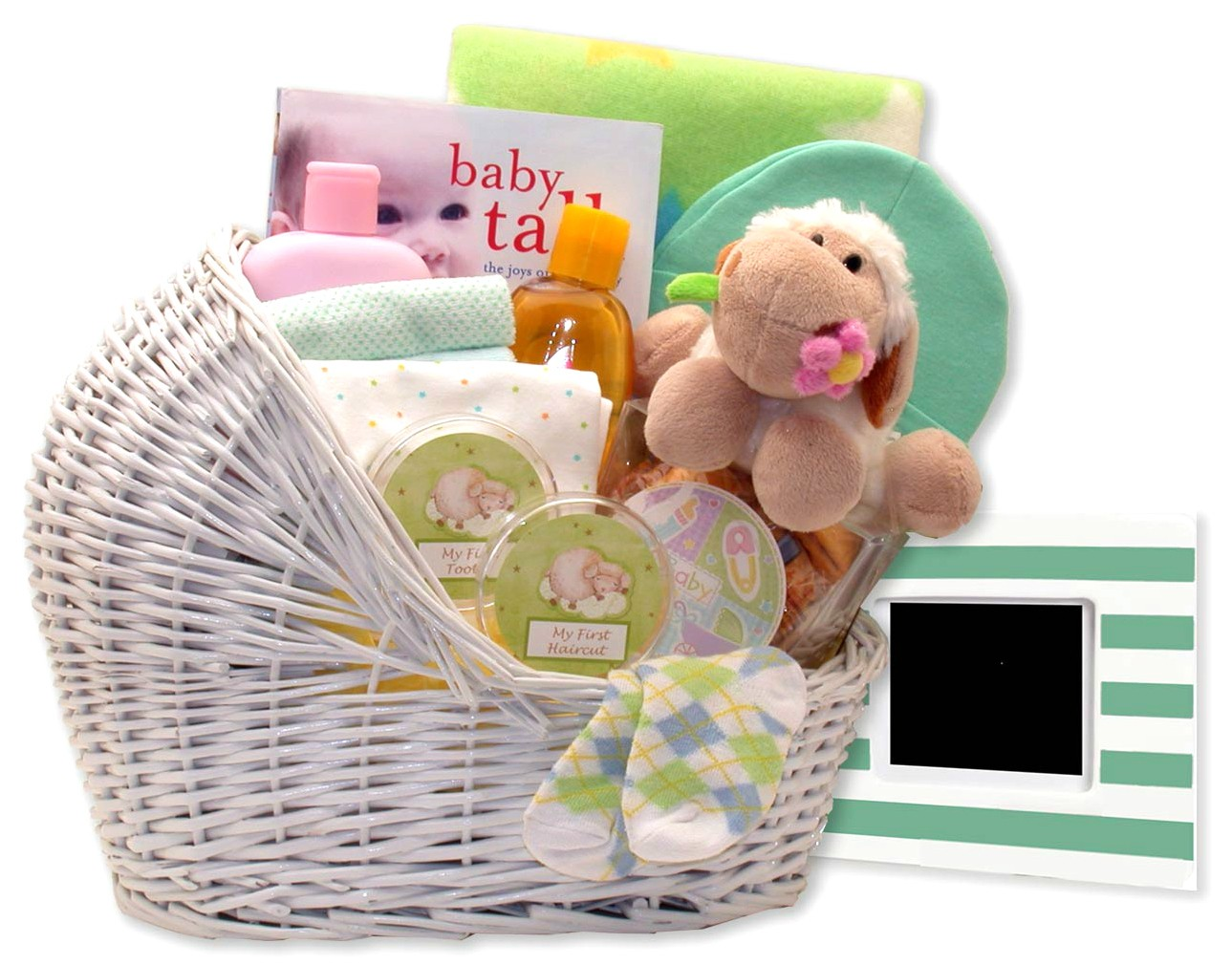 Baby Bassinet Gift Basket (In Colors Blue Pink or Teal)  sc 1 st  Adorable Gift Baskets & Welcome New Baby Bassinet Gift Basket