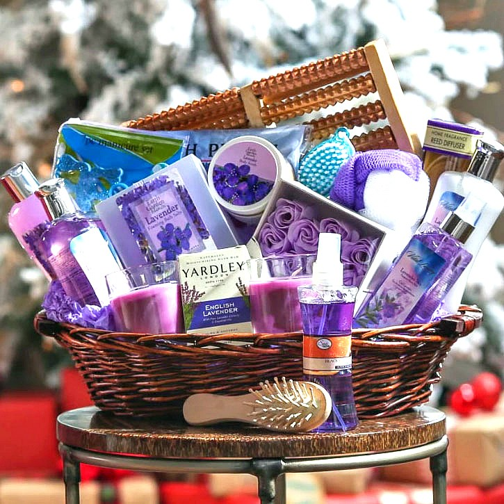Lavender Ultimate Spa Gift Basket By Broadwaybasketeers Com: Lavender Spa Escape Gift Basket