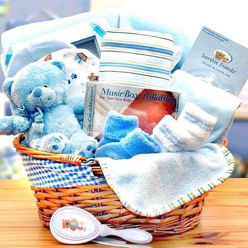 c9ad7376ed5e Organic New Baby Boy Gift Baskets. Loading zoom