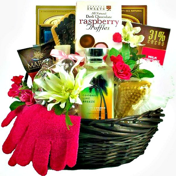 Sweet Escape Spa Gift Basket For Her Loading Zoom