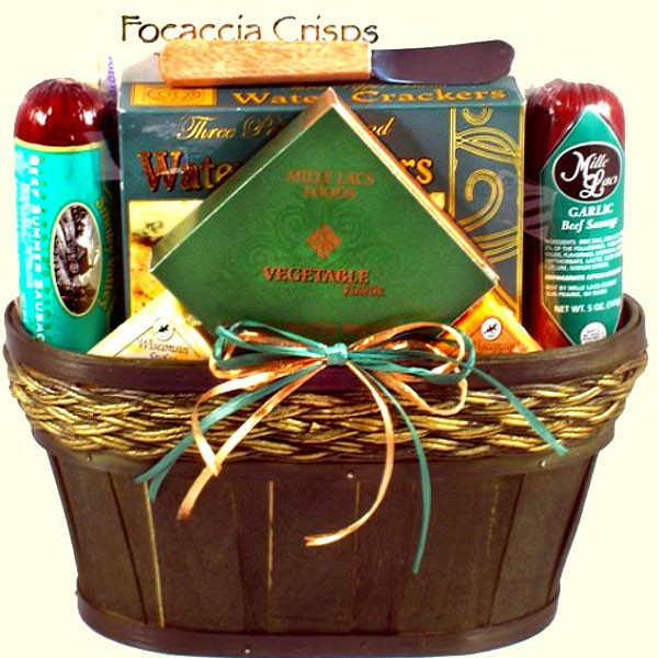 a00b23a8b1a5 Snack Lovers Gift Basket With Sausage