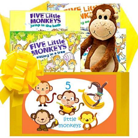 5 Little Monkeys Baby Books Gift Box