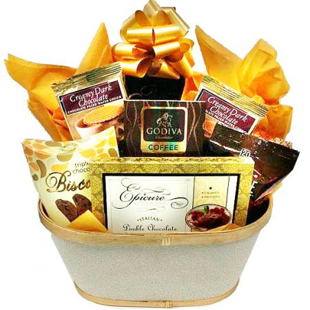 Thank You Gift Basket, Chocolate Cookies and Cake