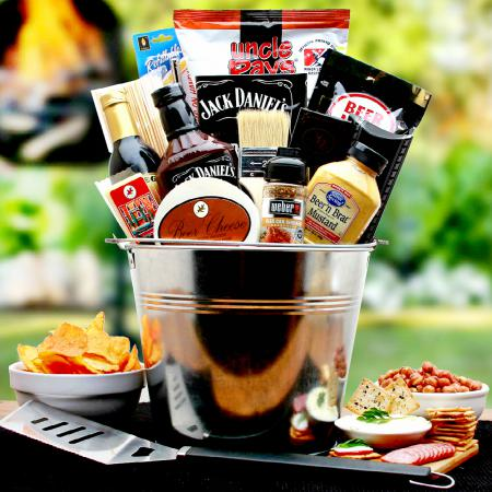 BBQ Lovers Grilling Gift Basket and Bar-B-Q Grilling Tools