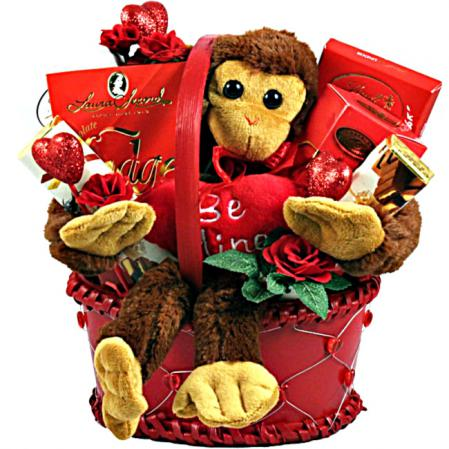 Be my Valentine gift basket to sent your sweetheart.