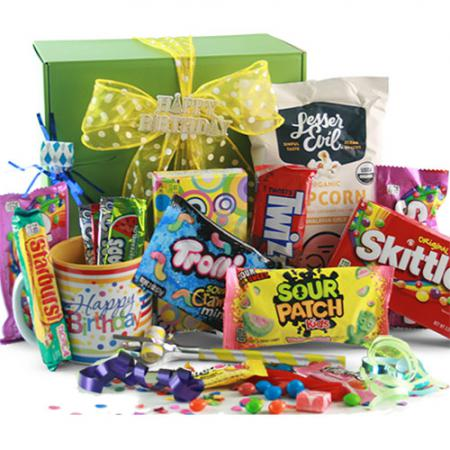 birthday blowout gift basket of candy
