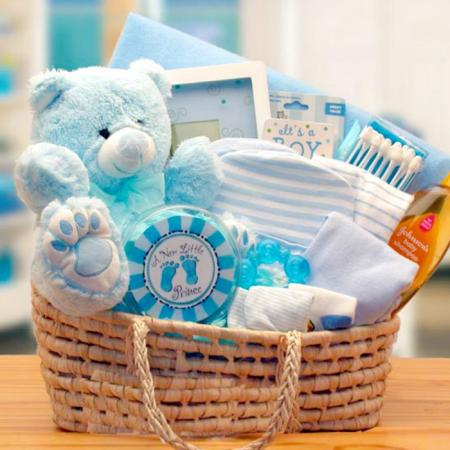 Precious Baby Boy Baby Carrier Gift Basket