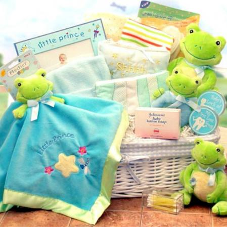 Baby Froggy Theme Baby Shower Gift Basket
