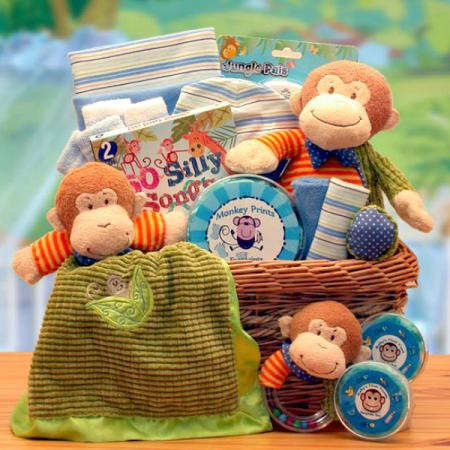 Little Monkey New Baby Gift Basket