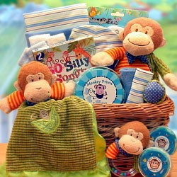 Little Monkey Baby Gift Basket