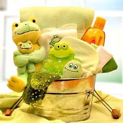 New Baby Froggie Gift Basket