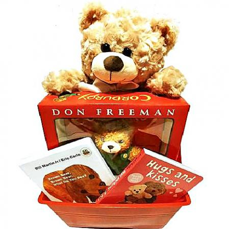 teddy bear gift basket for baby
