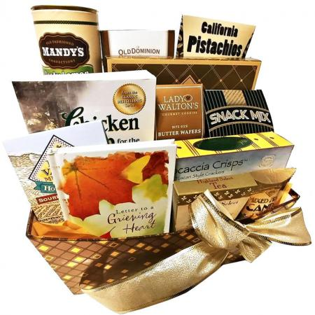 Gourmet Bereavement Gift Basket for Sympathy, Grief and Condolences