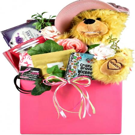 Breast Cancer Support Gift Basket For Her