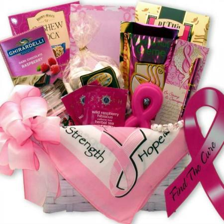 Hope and Strength Breast Cancer Gift Basket